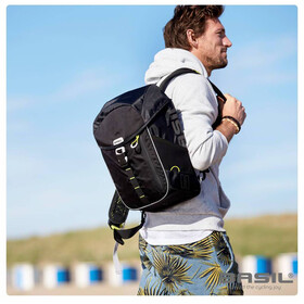 Basil Miles Daypack Luggage Carrier Bag 14L black lime
